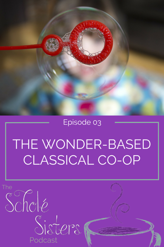 A conversation on how scholé can move our co-ops (and other educational endeavors) from less wonder to more wonder.