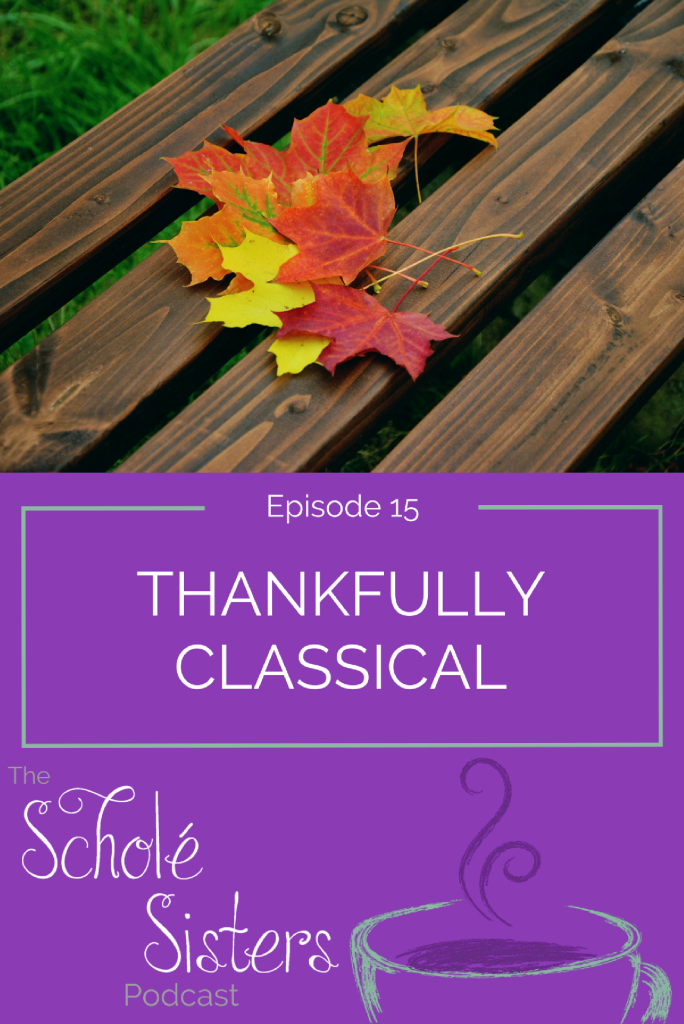 We're forever thankful for the adventure of classical education. Come on over and tell us what you're thankful for using our thankfulness prompts!