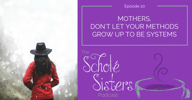 SS #20: Mothers, Don't Let Your Methods Grow up to Be Systems (with Karen Glass)