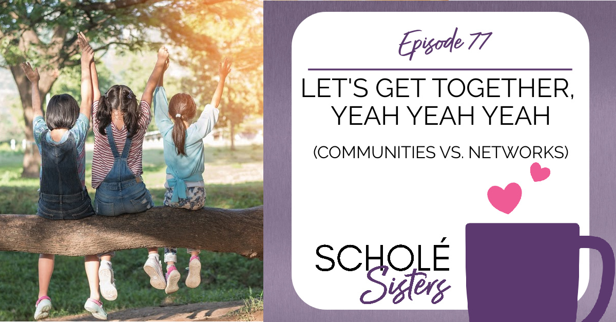 SS #77: Let's Get Together, Yeah Yeah Yeah (Communities vs. Networks)